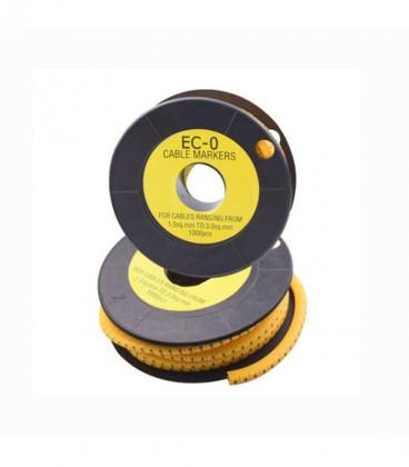 شماره سیم حلقه ای EC-0 برای سیم های 1.5 تا 3 میلی متر