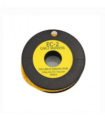 شماره سیم حلقه ای EC-2 برای سیم های 3.6 تا 7.4 میلی متر