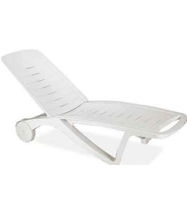 تخت کنار استخر پلاستیکی سفید مدل الگانس